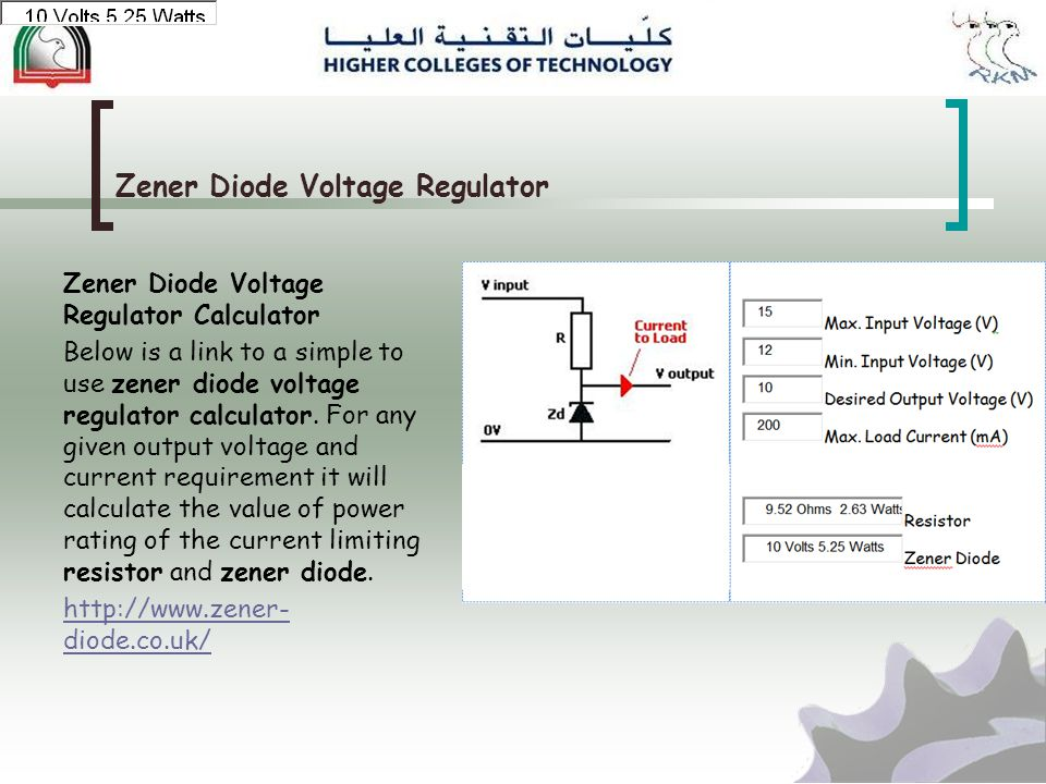 Zener Diode Voltage Regulator