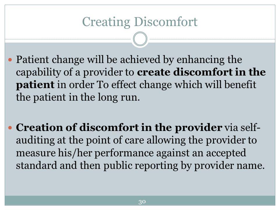 Creating Discomfort