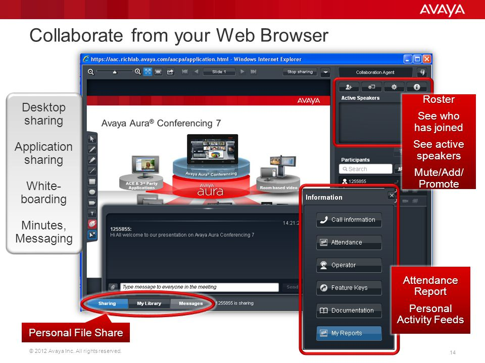 Collaborate from your Web Browser