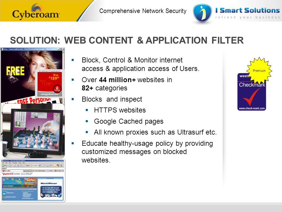 SOLUTION: WEB CONTENT & APPLICATION FILTER
