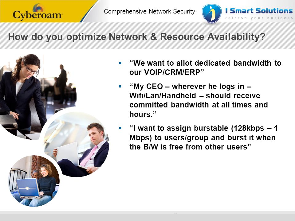 How do you optimize Network & Resource Availability