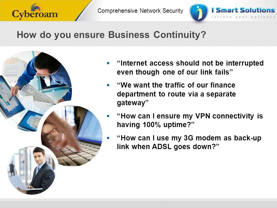 How do you ensure Business Continuity