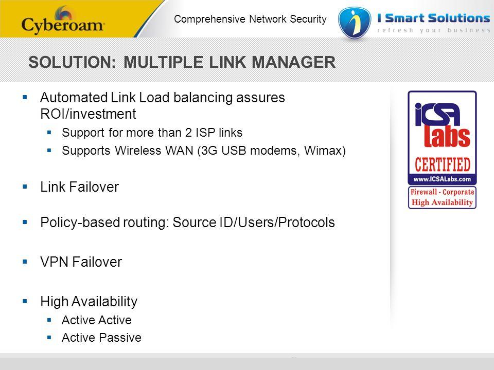 SOLUTION: MULTIPLE LINK MANAGER