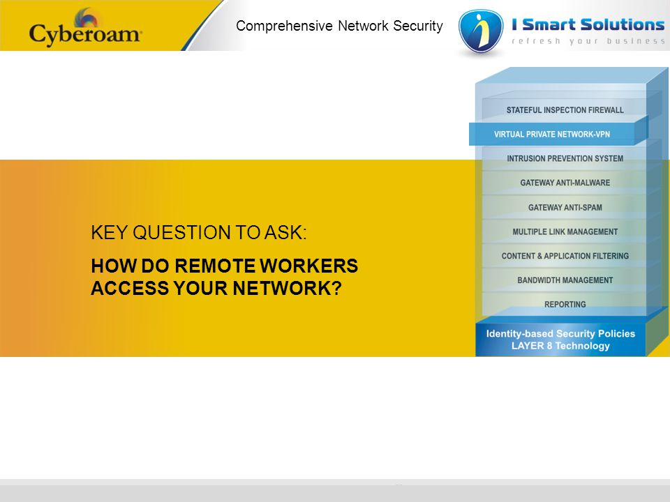 KEY QUESTION TO ASK: HOW DO REMOTE WORKERS ACCESS YOUR NETWORK