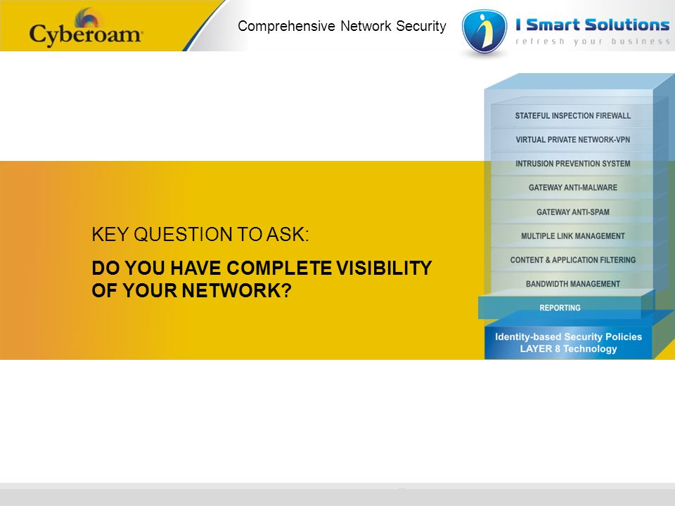 KEY QUESTION TO ASK: DO YOU HAVE COMPLETE VISIBILITY OF YOUR NETWORK