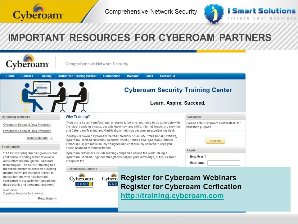 IMPORTANT RESOURCES FOR CYBEROAM PARTNERS