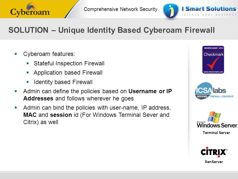 SOLUTION – Unique Identity Based Cyberoam Firewall