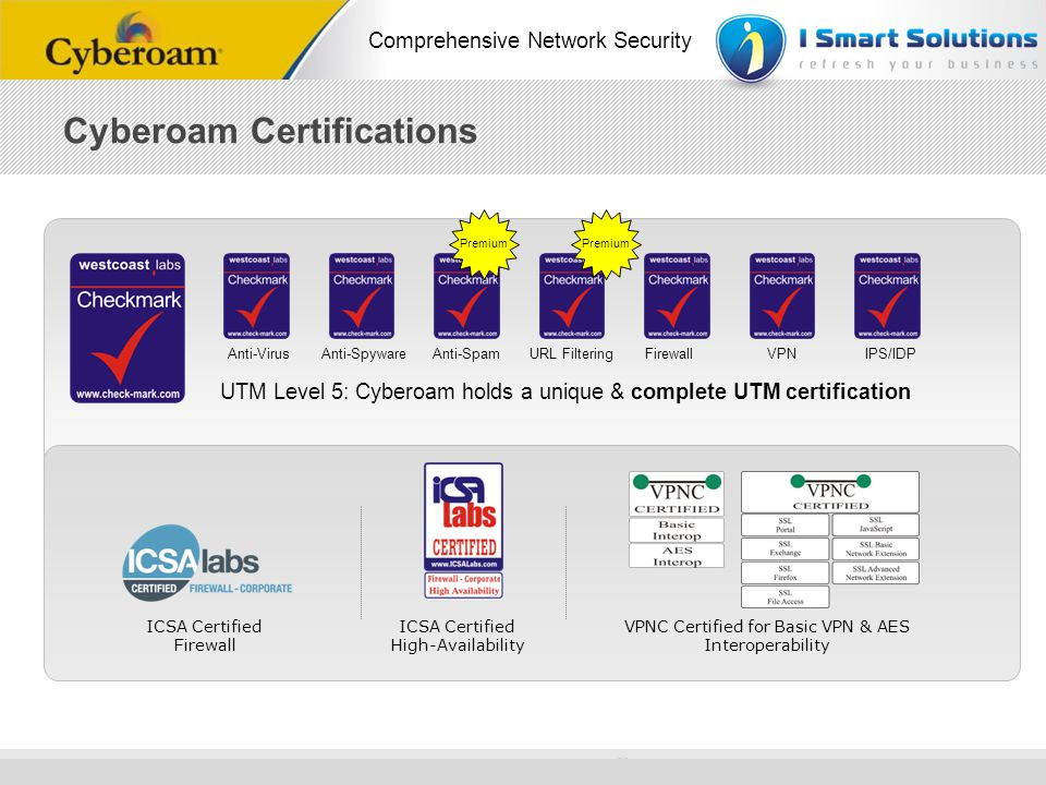 Cyberoam Certifications