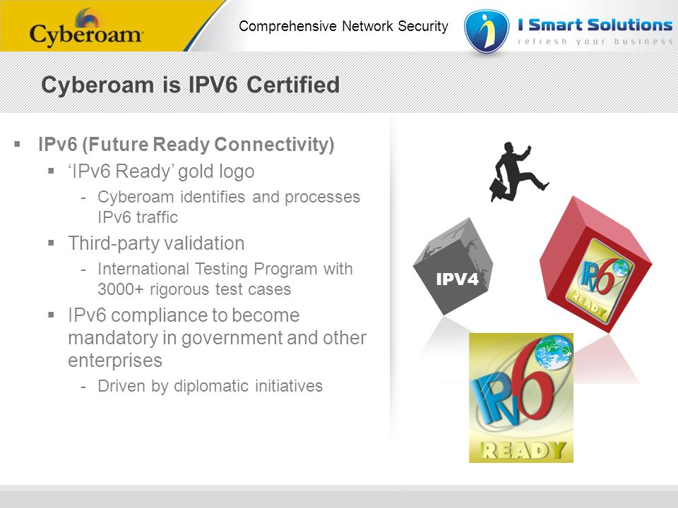 Cyberoam is IPV6 Certified