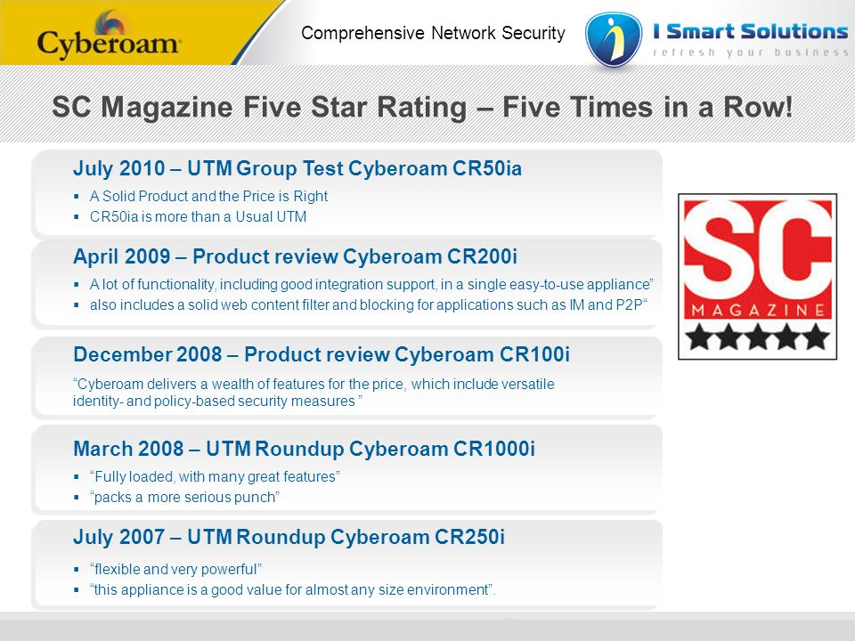 SC Magazine Five Star Rating – Five Times in a Row!