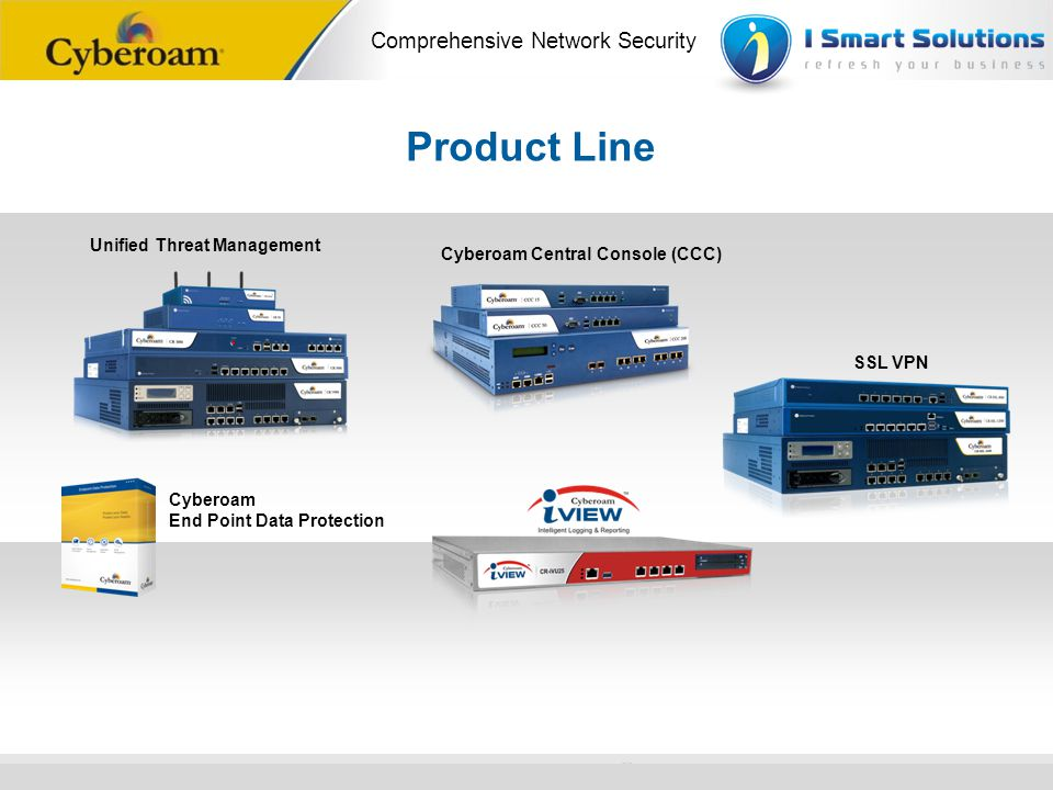 Product Line Unified Threat Management Cyberoam Central Console (CCC)