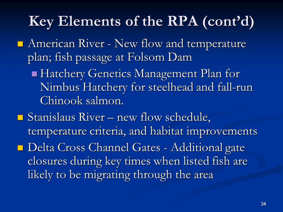 Key Elements of the RPA (cont'd)