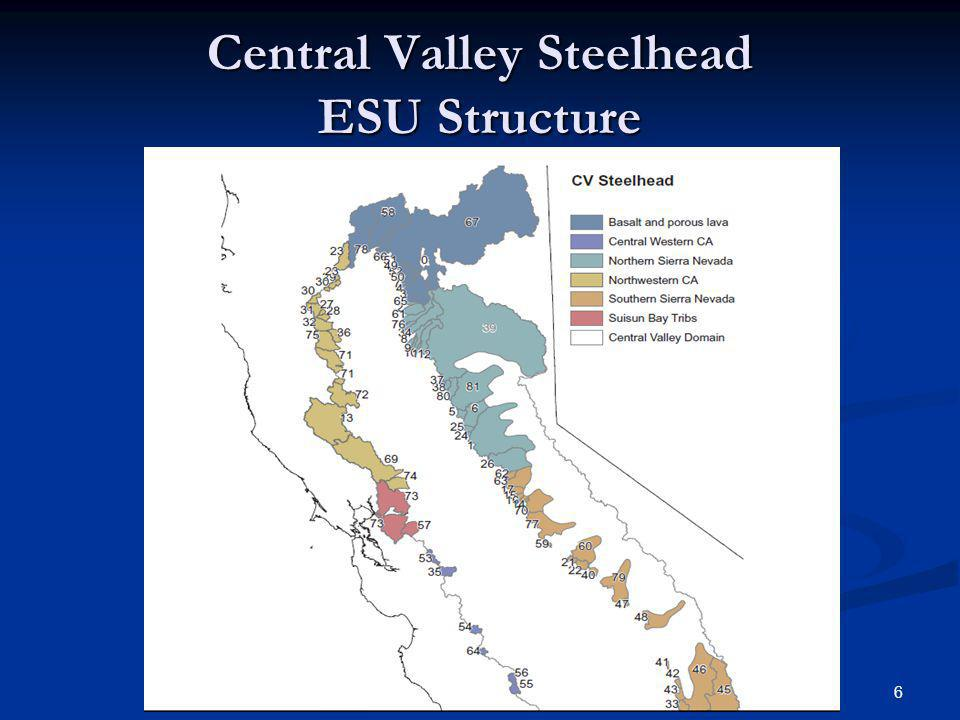 Central Valley Steelhead ESU Structure