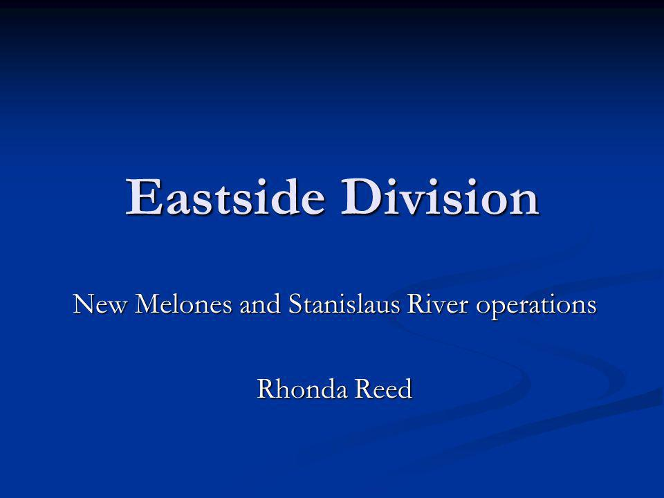 New Melones and Stanislaus River operations Rhonda Reed