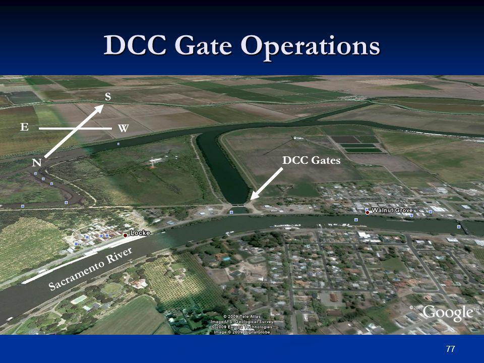DCC Gate Operations S E W DCC Gates N Sacramento River