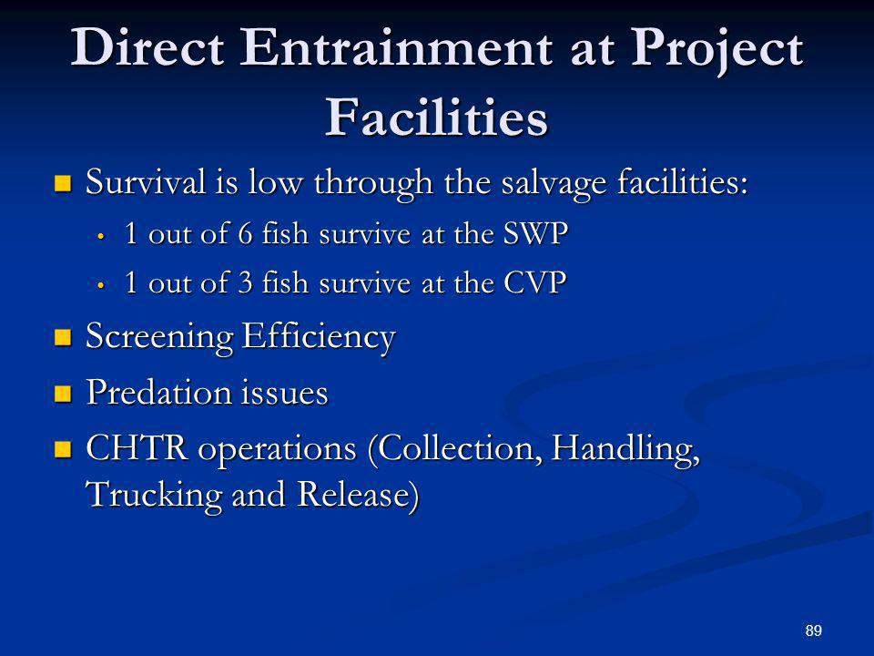 Direct Entrainment at Project Facilities