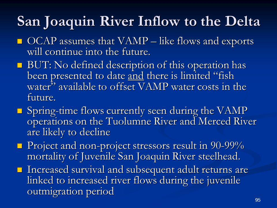 San Joaquin River Inflow to the Delta