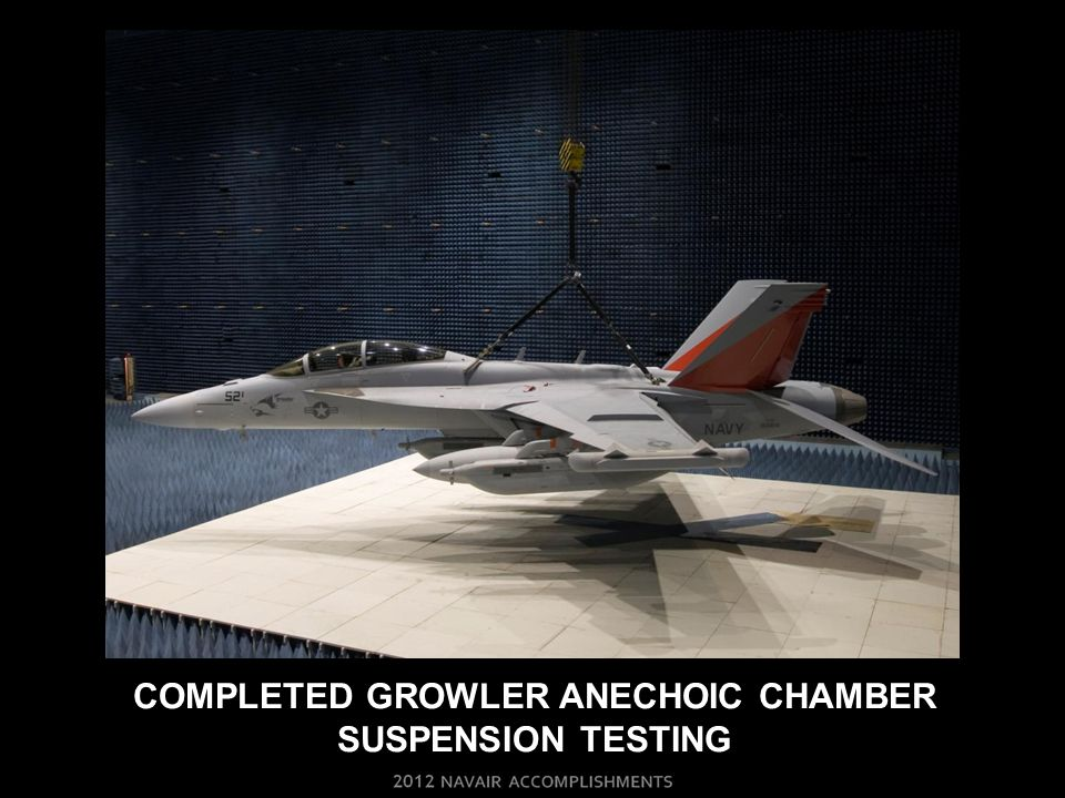 COMPLETED GROWLER ANECHOIC CHAMBER SUSPENSION TESTING