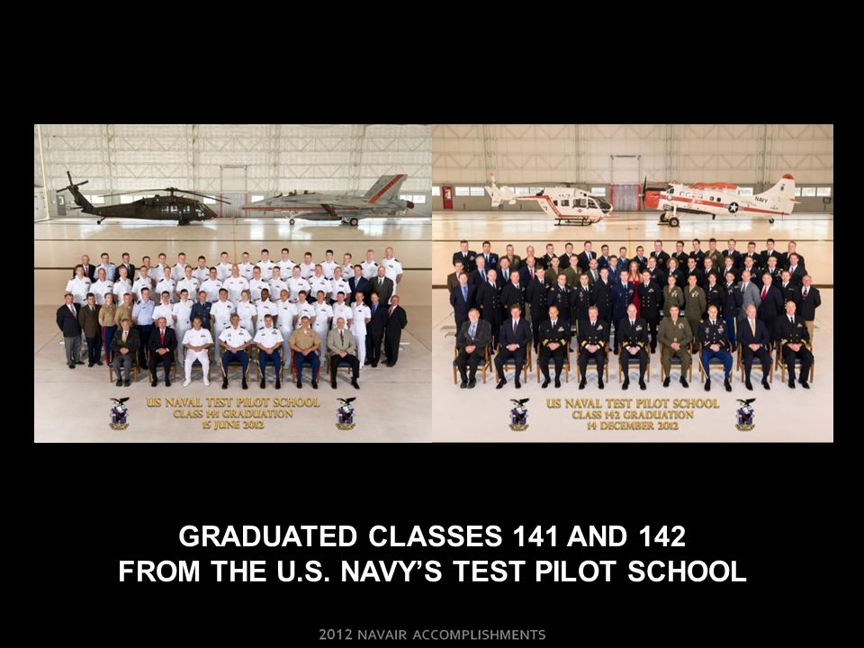 GRADUATED CLASSES 141 AND 142 FROM THE U.S. NAVY'S TEST PILOT SCHOOL