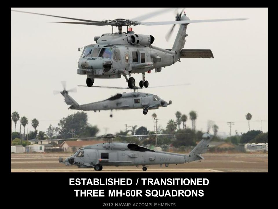 ESTABLISHED / TRANSITIONED THREE MH-60R SQUADRONS