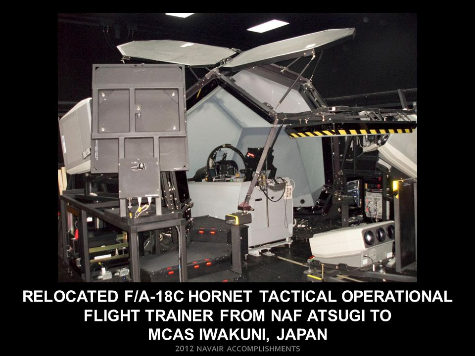 Relocated f/a-18c hornet tactical operational flight trainer from naf atsugi to Mcas iwakuni, japan