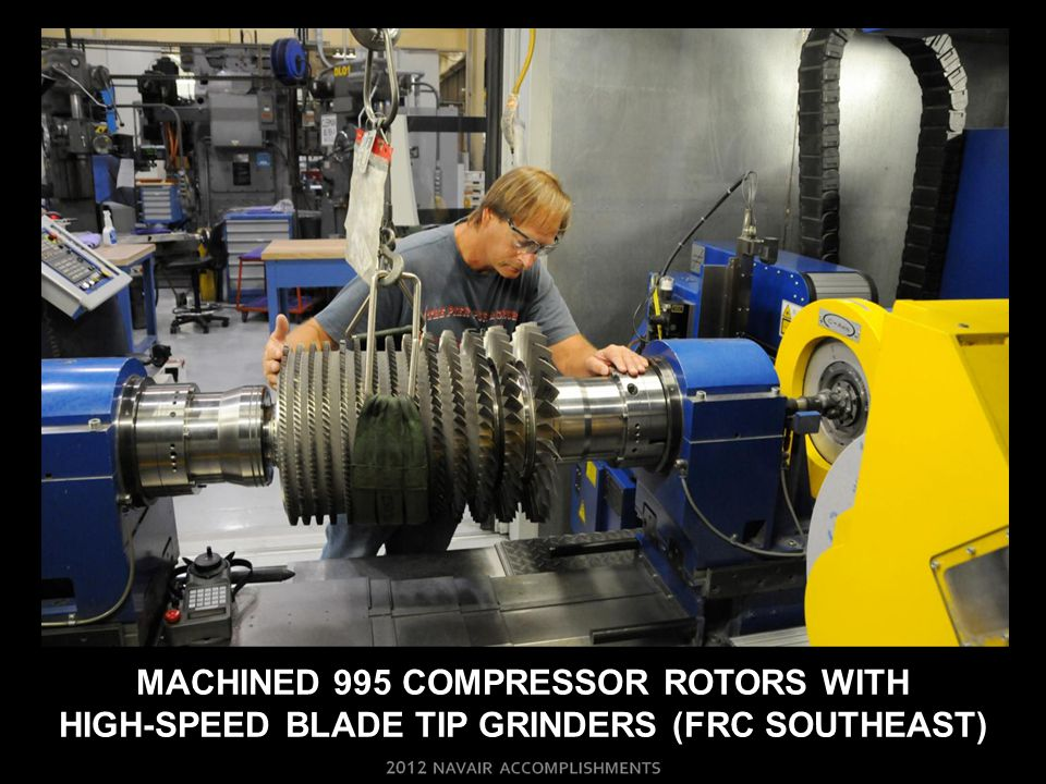 MACHINED 995 COMPRESSOR ROTORS WITH High-Speed Blade Tip Grinders (frc Southeast)