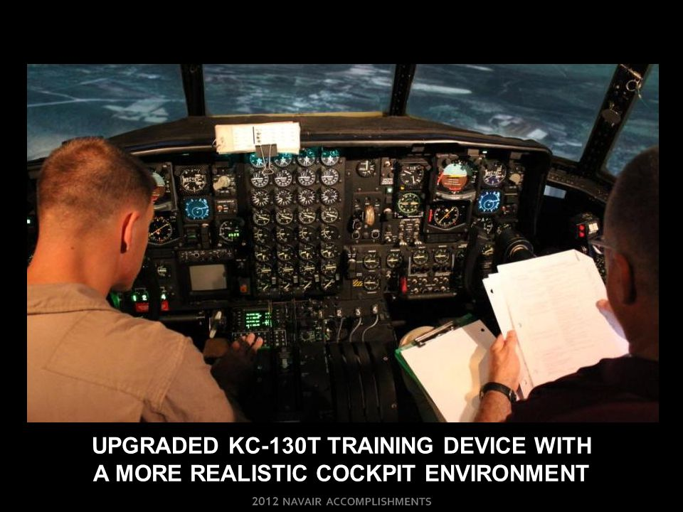 Upgraded kc-130t training device with a more realistic cockpit environment