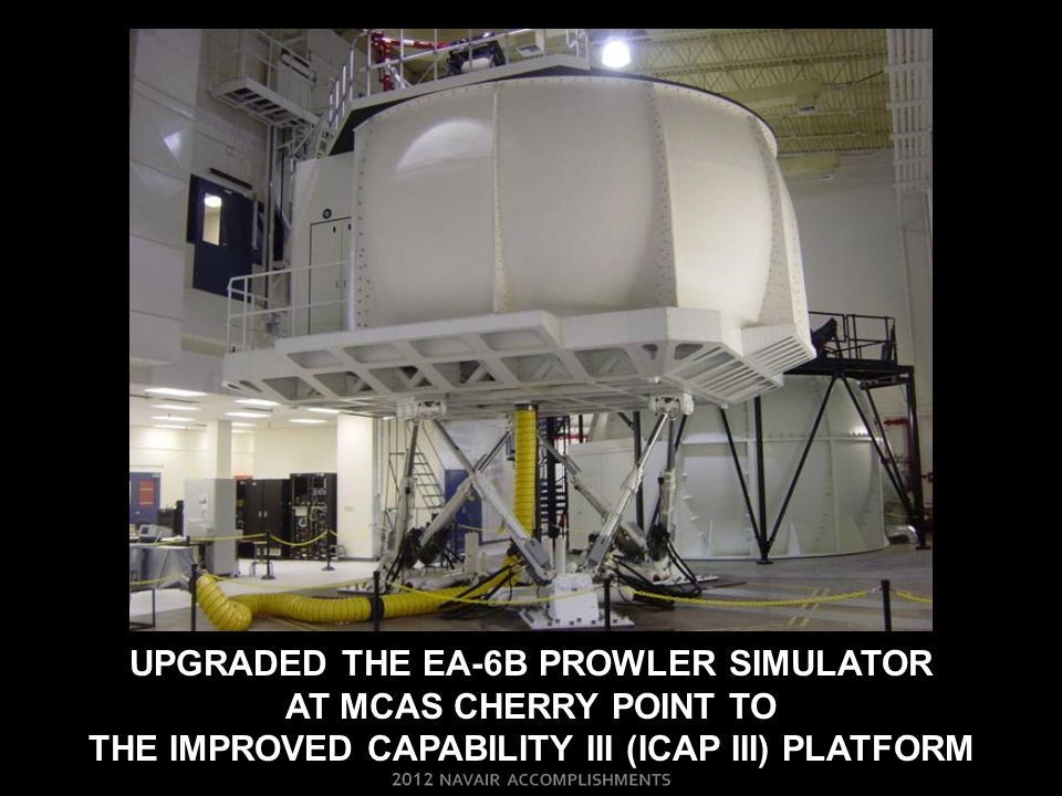 UPGRADED THE EA-6B PROWLER SIMULATOR AT MCAS CHERRY POINT TO THE IMPROVED CAPABILITY III (ICAP III) PLATFORM