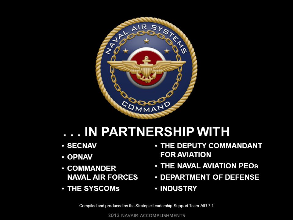 Compiled and produced by the Strategic Leadership Support Team AIR-7.1