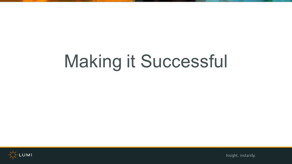 Making it Successful Add to this slide