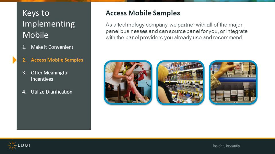 Keys to Implementing Mobile Access Mobile Samples