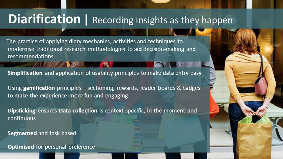 Diarification | Recording insights as they happen