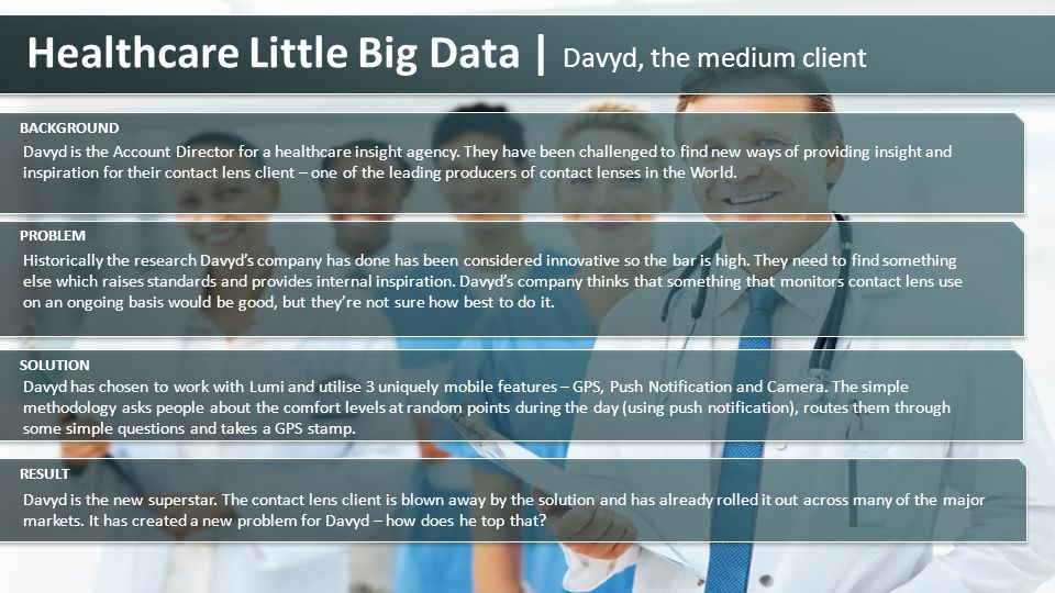 Healthcare Little Big Data | Davyd, the medium client