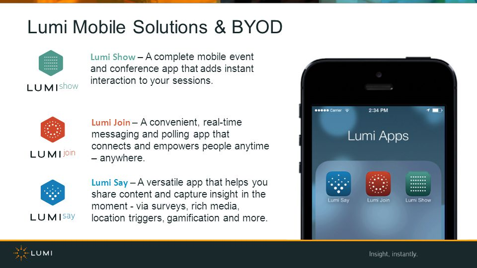 Lumi Mobile Solutions & BYOD