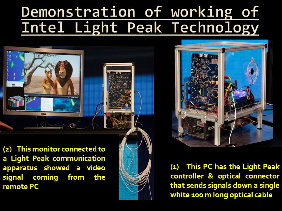 Demonstration of working of Intel Light Peak Technology