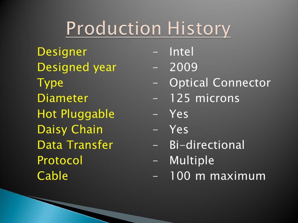 Production History Designer – Intel Designed year – 2009