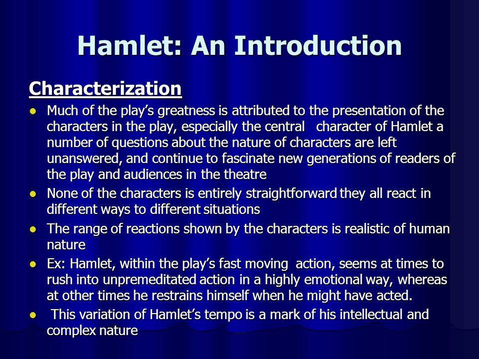 Hamlet: An Introduction