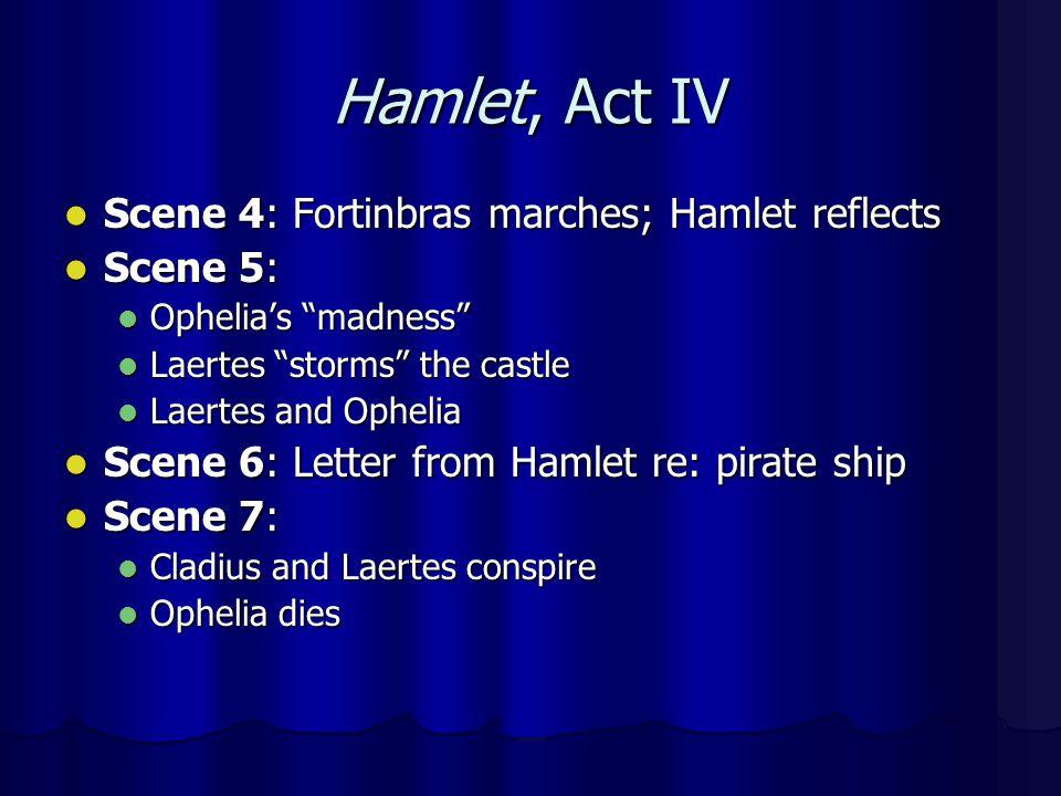 Hamlet, Act IV Scene 4: Fortinbras marches; Hamlet reflects Scene 5: