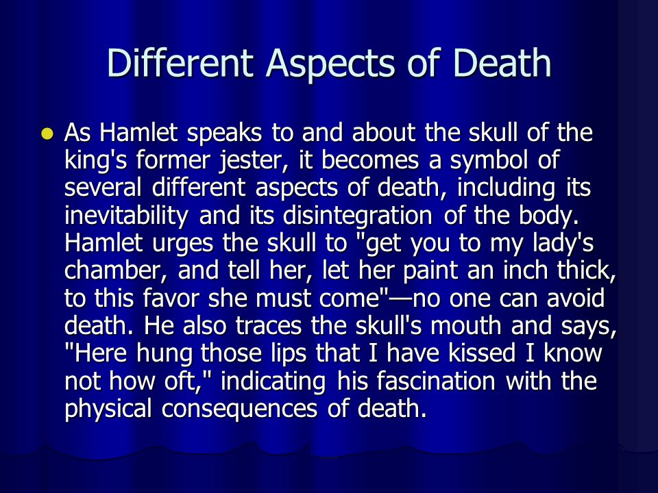 Different Aspects of Death