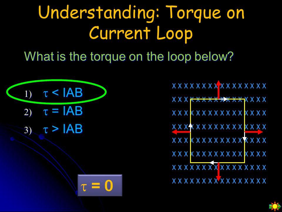Understanding: Torque on Current Loop