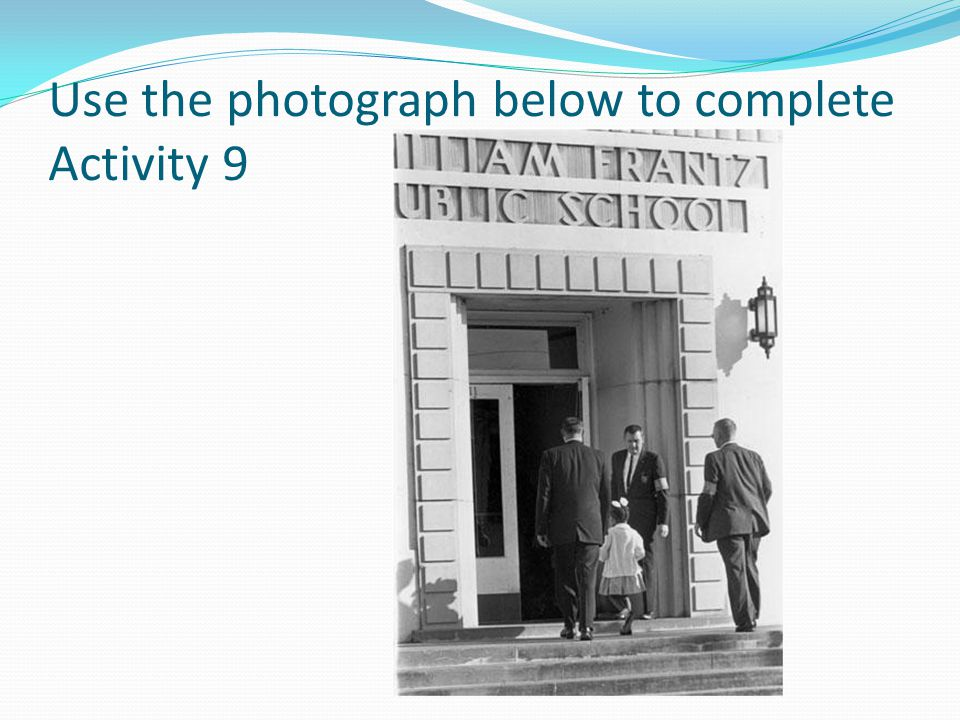 Use the photograph below to complete Activity 9