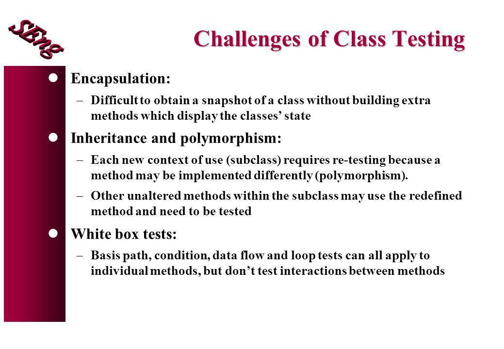 Challenges of Class Testing