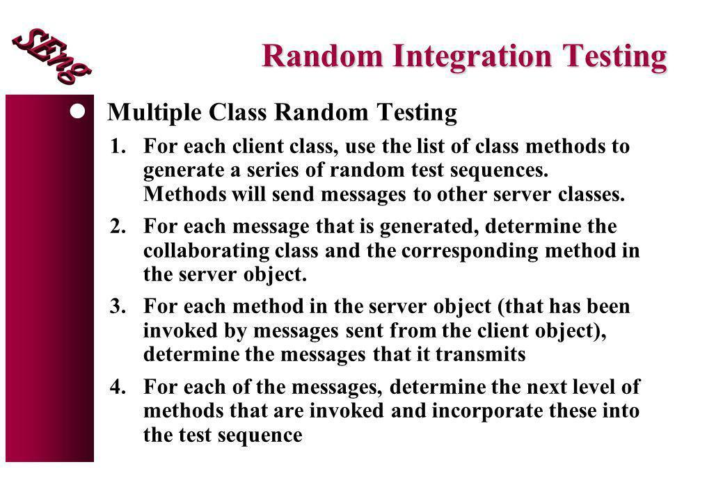 Random Integration Testing