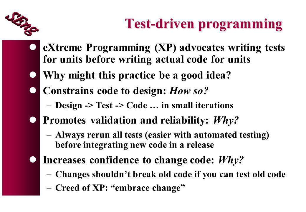 Test-driven programming