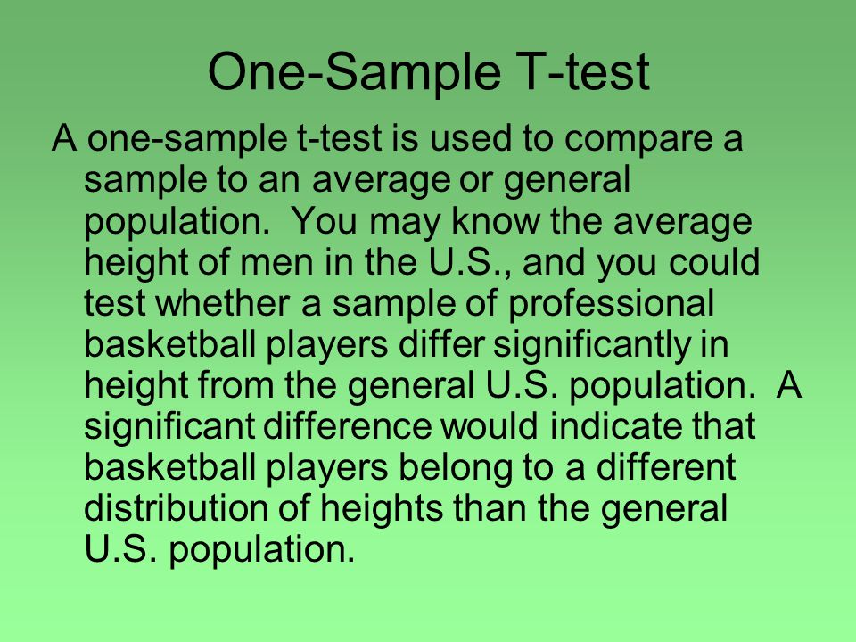 One-Sample T-test