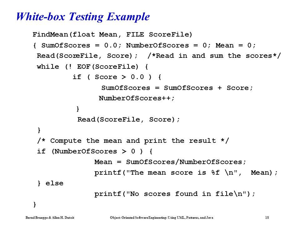 White-box Testing Example