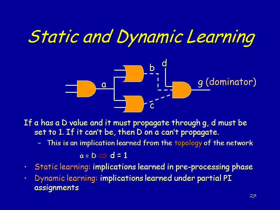 Static and Dynamic Learning