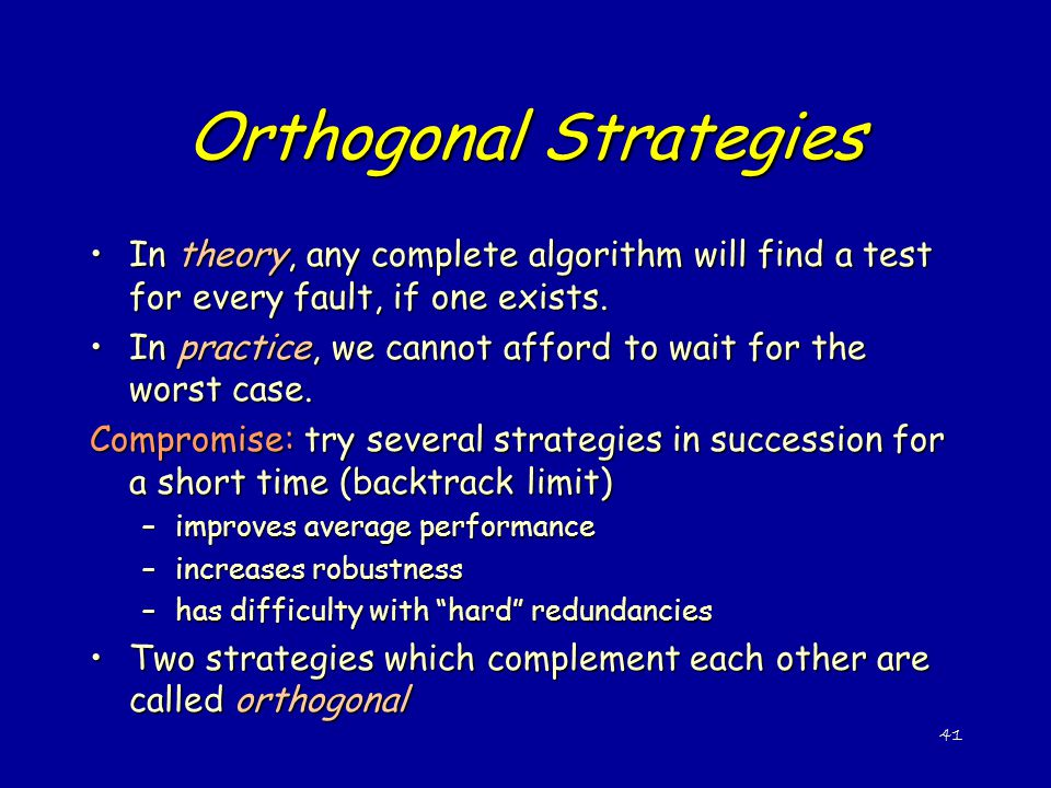 Orthogonal Strategies