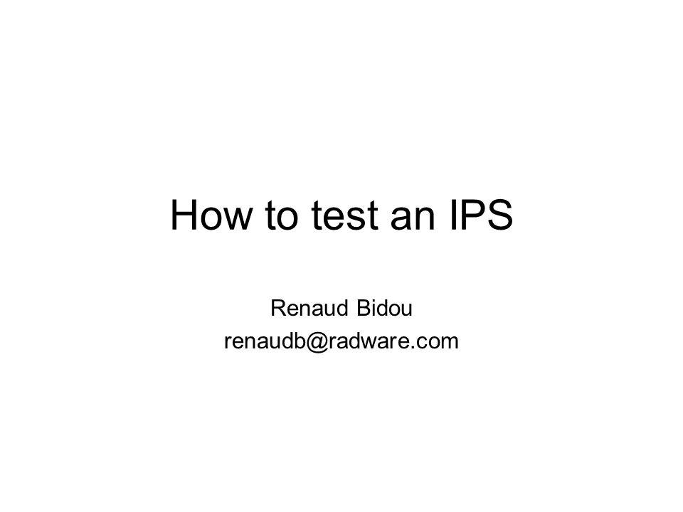 Renaud Bidou renaudb@radware.com