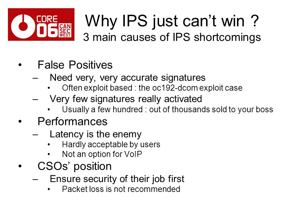 Why IPS just can't win 3 main causes of IPS shortcomings